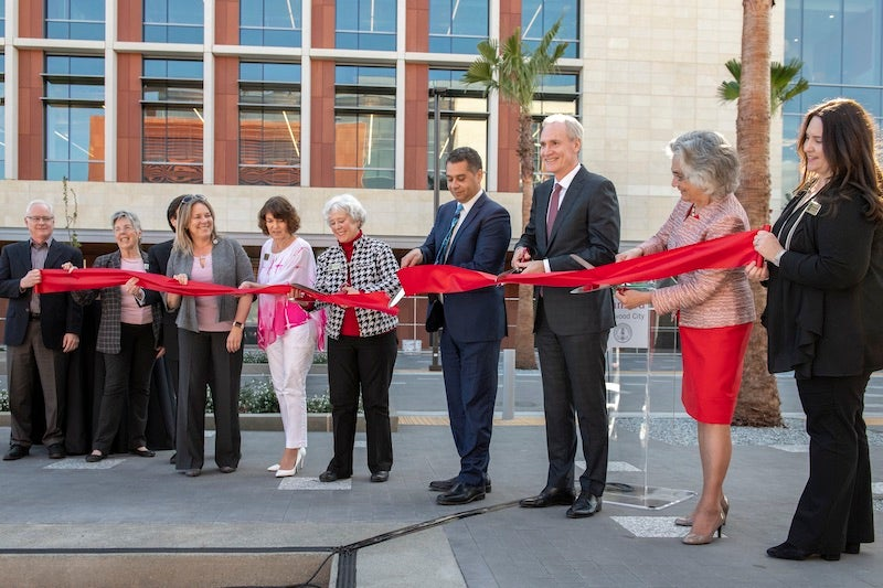 Redwood City campus ribbon-cutting